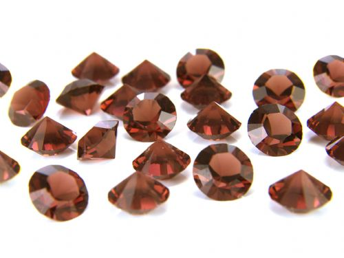 Pk 100 Swarovski Unfoiled Table Crystals, Style 1028, SS24 (5.5mm), Smoked Topaz